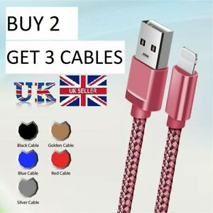 USB Cable For  iPhone 7 8 6 5 X 11/11 pro Long Charger Charging Fast Lead 2m 3m