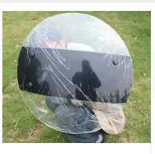Round Riot Shield Security Protection Swat Police Tactical Paintball Transparent