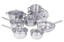 Sabichi 9 Piece Cookware Set - Saucepan Set, Steamer basket, Casserole Pan.....