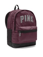 48b9e0471549 Victoria Secret VS Pink Bling Black Orchid Studs Campus Backpack Bookbag Bag  NEW