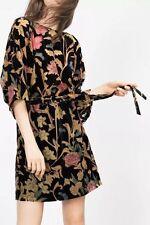 Zara Short Sleeve Velvet Dresses for Women