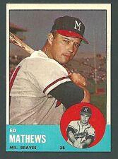 Ed Mathews Milwaukee Braves 1963 Topps Card #275