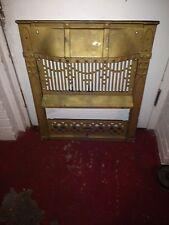 Antique Victorian Cast Iron Fireplace Insert Surround Panel Architecture Salvage
