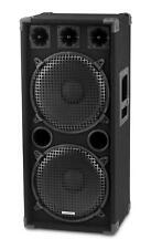 "2x 12"" TORRES DE DJ PA ALTAVOCES DISCO CAJAS SUBWOOFER BOX SISTEMA FIESTA 1000W"