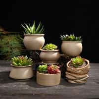 1Piece Ceramic Plant Succulent Flower Pots Planter Home Garden Decoration