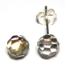 Sterling silver stud earrings Austrian crystal ball design
