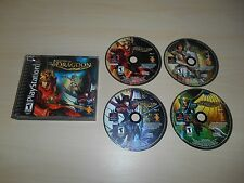 The Legend of Dragoon PS1 Playstation Game Discs & Case Black Label