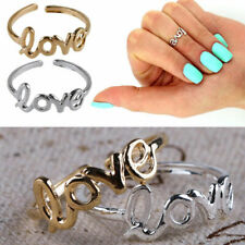 Mothers Day Gift Celebrity Love Toe Finger Ring Adjustable Jewelry. Beach V8H2