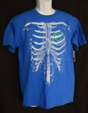 Mambo Australia Royal Blue Surf Australia Wax Skeleton T Shirt Size XL NWT