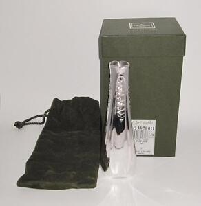 """Christofle France 311 Silver Art Nouveau Style Peuplier Vase, 8 1/2"""""""