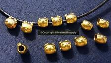 Hello kitty european style beads 12pc 7mm large hole ant gold plated zinc fpb212