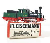 "FLEISCHMANN 4110 HO GAUGE - GERMAN ELB LIVERY 0-4-0 LOCOMOTIVE ""GREEN BETTY"""