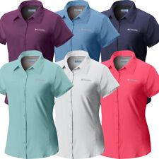 """Nueva camiseta para mujer Columbia """"meadowgate"""" Omni-shade ventilada de mangas cortas Camisa Talla Grande"""