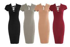 Unbranded Polyester V Neck Cap Sleeve Dresses for Women