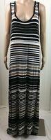Spense Striped Maxi Dress Sleeveless Multi Color Stretch Cotton Women's Size L