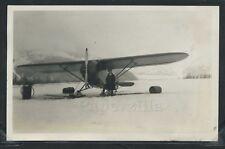 Rare AK Valdez RPPC 1930's BOB REEVE & FC-2 AIRPLANE NC5364 FROZEN LAKE Airways