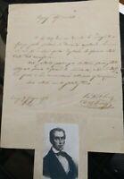 1856 116) LETTERA DEL POLITICO RISORGIMENTALE AGRONOMO FIORENTINO COSIMO RIDOLFI