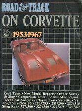CHEVROLET CORVETTE C1 C2 6-CYL & V8 ( INCL STINGRAY ) 1953 - 1967 ROADTESTS BOOK