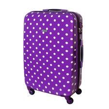 XL Rigide à roulettes valise de voyage 4 roues 85 Litre Violet Points
