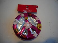 New  Holiday Christmas Tree Decoration Peace in Purple or Pink color