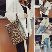 Women Animal Print Clutch Lady PU Leather Zipper Wallet Messenger Bag Coin Purse