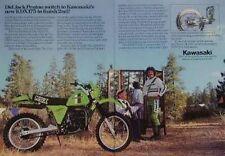 KAWASAKI 175 KDX175 Motorcycle Ad - JACK PENTON -1979