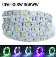 5M RGBW RGBWW LED Strip Light Ribbon SMD 5050 12V RGB+Warm White Tape Colorful