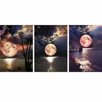 Moon DIY Full 5D Drill Diamond Painting Embroidery Cross Stitch Craft Kit