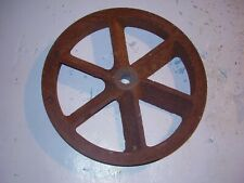 "LARGE VINTAGE 10"" INDUSTRIAL STEEL  PULLEY WHEEL  STEAMPUNK -  RE-PURPOSE"