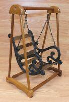 Wood & Cast Iron Porcelain / Baby Doll Porch Swing For Play Purpose Only *READ*