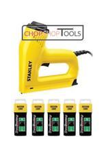 STANLEY Electric Staple Nail Gun Nailer 0-TRE550 & 5000 6mm Staples 1-TRA7045T