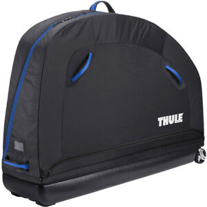 Thule Roundtrip Pro Semi-Rigid Cycle Bike Case With Assembly Stand Black / Blue