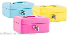 Geldkassette Spardose für Kinder Kasse Mini Metall Kassieren pink grün blau lila