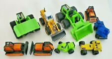 Construction Vehicle Lot of 9 ~ Tonka & Other Construction Vehicles ~ See Pics!