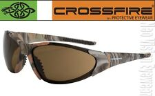 Crossfire Core Woodland Camo Brown High Definition Safety Glasses Sun Z87+