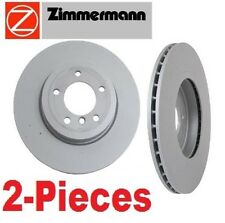 Set of 2 Zimmermann Front Disc Brake Rotors Bmw E46 330Ci 330i 330xi Z4 NEW
