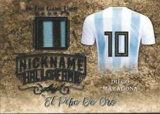 Diego Maradona 2019 Leaf In the Game Prime Jersey Nickname 3/7 Argentina