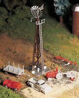 Bachmann 45603 O Scale Windmill w/ Farm Machinery NIB Free Shipping