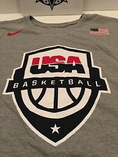 NIKE MEN'S USA OLYMPIC BASKETBALL TEAM ROSTER SHIRT GREY RED BLUE GOLD sz XL