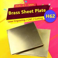 1pcs New Brass Metal Thin Sheet Foil Plate Shim Thick 0.3mm x 100mm x 100mm