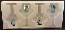 4 SALTWATER FISH LIMITED EDITION- White Wine Glasses -only 5000 sets made**