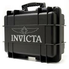 New Invicta 8 Slot Impact Hard Black Dive Storage Collector Waterproof Case