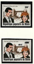 (71157) Benin MNH Princess Diana Wedding + OVERPRINT 1981