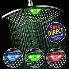 DreamSpa® 12 inch Rainfall Shower Head with Led/Lcd Temperature Display