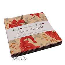 "Charm Pack ""Lilies of the Field""  Blumen Patchwork Stoff 42 Scraps à 12,7cm (5"")"