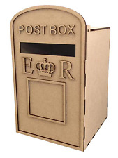Y54 ROYAL MAIL WEDDING LETTER Message Note Mini POST BOX MDF Special Offer Small