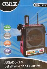 Bluetooth Radio Rechargeable Vintage FM USB MP3 SD Karaoké Lampe Torche 230V