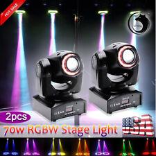 U`King 2Pcs 70W Led Dmx Moving Head Stage Lighting Rgb Dj Disco Party Show Light