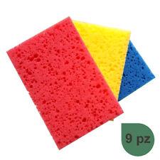Set 4 spugne scrub cucina retina 13x9 cm colori assortiti accessori pulizia casa