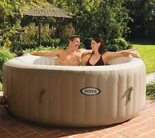 Intex Pure Spa 4-Person Inflatable Portable Hot Tub with Six Filter Cartridges